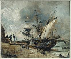 Shipping on the Orwell, near Ipswich by John Constable